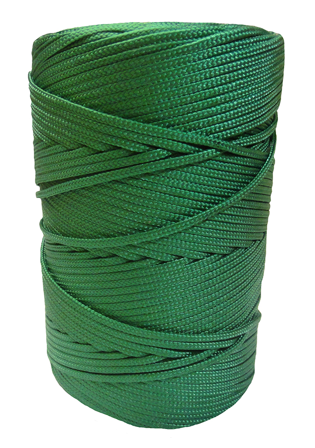 3mm Green Braided Nylon Cord x 180m
